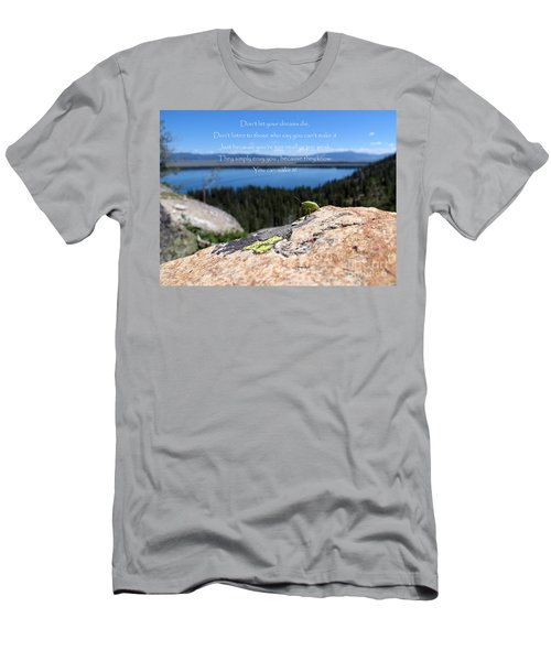 Men's T-Shirt (Athletic Fit) featuring the photograph You Can Make It. Inspiration Point by Ausra Huntington nee Paulauskaite