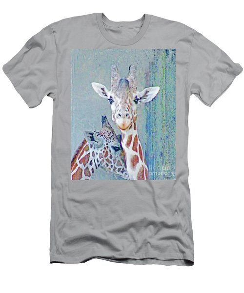 Young Giraffes Men's T-Shirt (Athletic Fit)