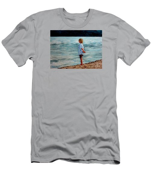Young Lad By The Shore Men's T-Shirt (Athletic Fit)