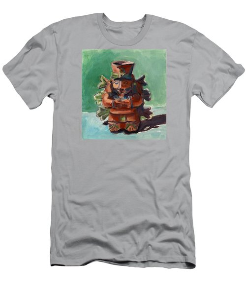 Men's T-Shirt (Slim Fit) featuring the painting Yucatan Prince by Pattie Wall