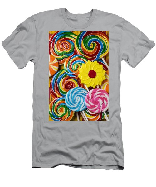 Yummy Candy Suckers Men's T-Shirt (Athletic Fit)