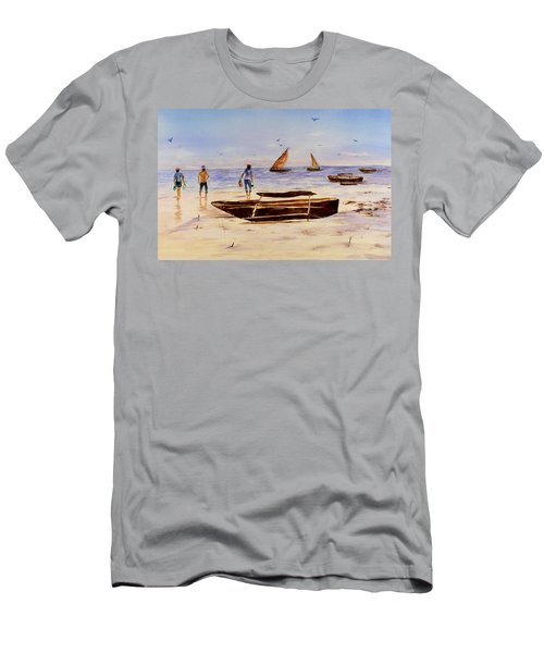 Zanzibar Forzani Beach Men's T-Shirt (Slim Fit) by Sher Nasser