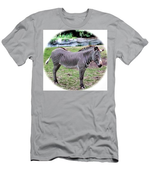 Men's T-Shirt (Slim Fit) featuring the photograph Zebra 1 by Dawn Eshelman