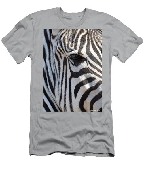 Zebra Eye Abstract Men's T-Shirt (Athletic Fit)