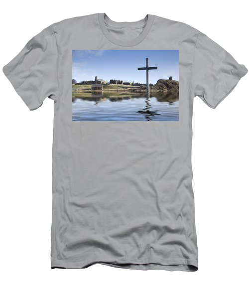 Cross In Water, Bewick, England Men's T-Shirt (Athletic Fit)