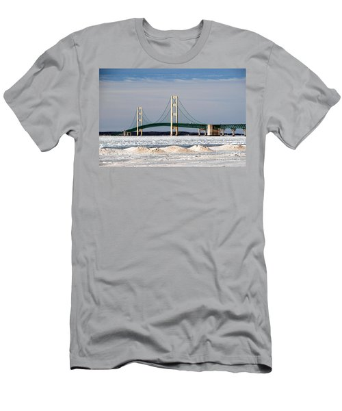 Mackinac Bridge In Winter Men's T-Shirt (Athletic Fit)