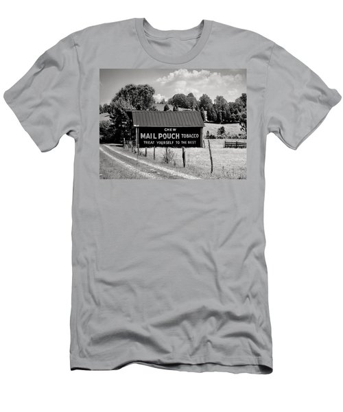 Men's T-Shirt (Slim Fit) featuring the photograph Mail Pouch Barn by Mary Almond
