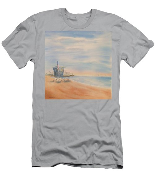 Morning By The Beach Men's T-Shirt (Athletic Fit)