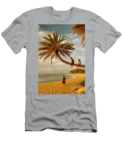 Sunset Beach Oahu Men's T-Shirt (Athletic Fit)
