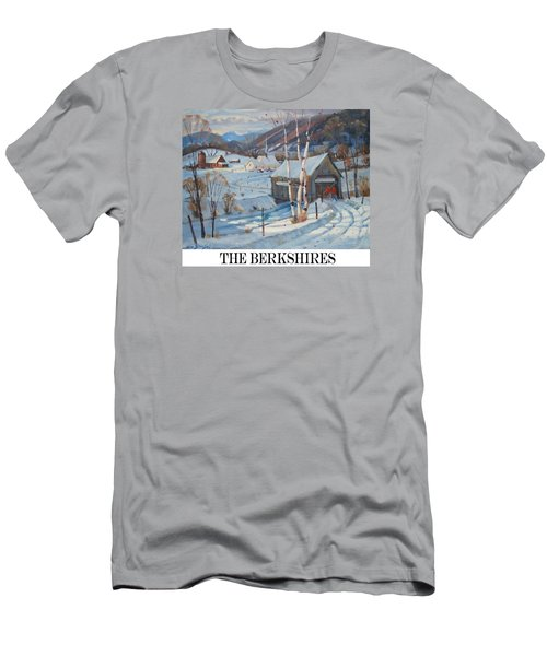 Men's T-Shirt (Slim Fit) featuring the painting the Berkshires by Len Stomski