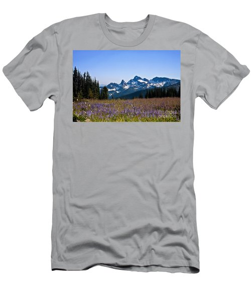 Wildflowers In The Cascades Men's T-Shirt (Athletic Fit)