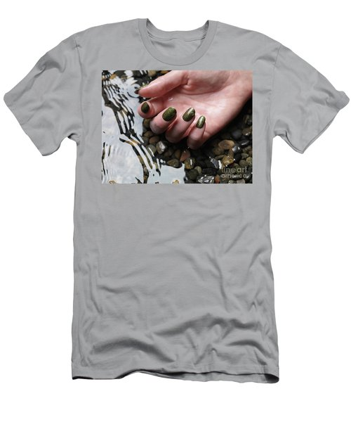 Woman Hand In Water Men's T-Shirt (Athletic Fit)