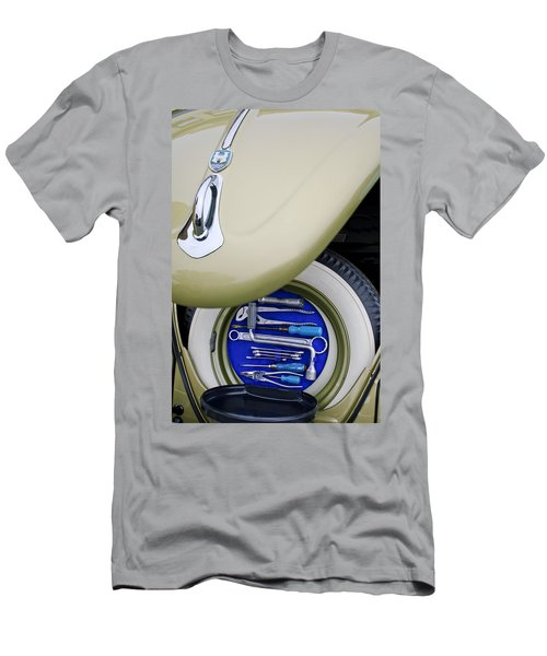 Men's T-Shirt (Athletic Fit) featuring the photograph 1956 Volkswagen Vw Bug Tool Kit by Jill Reger