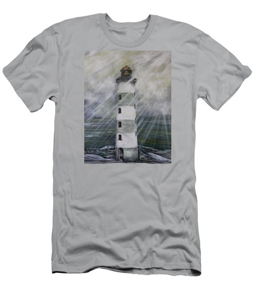 Point Lookout Lighthouse Men's T-Shirt (Athletic Fit)