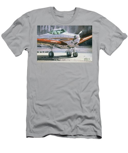 Men's T-Shirt (Slim Fit) featuring the painting Private Plane by Donald Maier