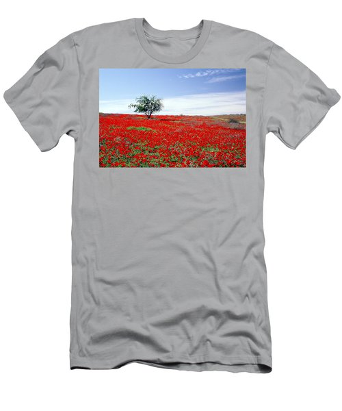 A Tree In A Red Sea Men's T-Shirt (Athletic Fit)