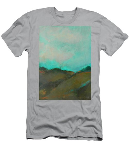 Abstract Landscape - Turquoise Sky Men's T-Shirt (Athletic Fit)