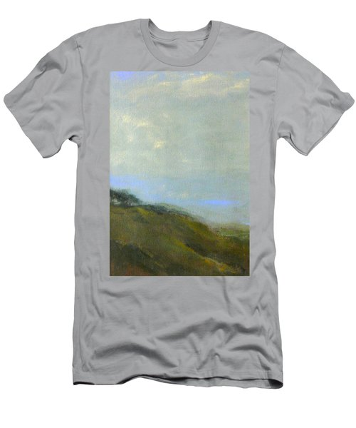 Abstract Landscape - Green Hillside Men's T-Shirt (Athletic Fit)