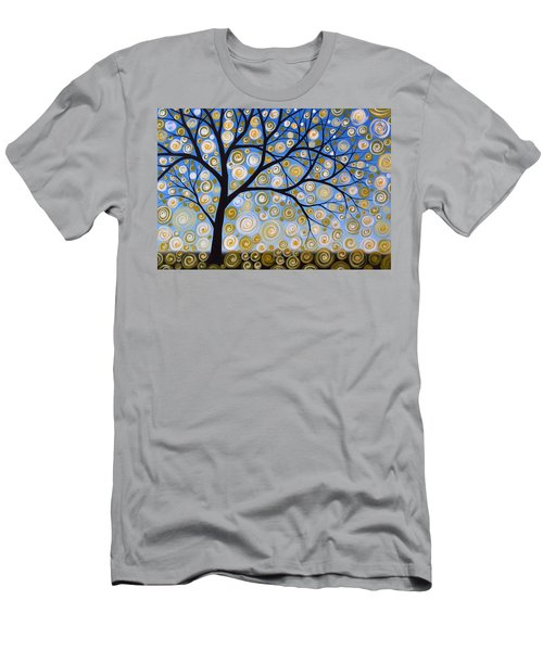 Abstract Tree Nature Original Painting Starry Starry By Amy Giacomelli Men's T-Shirt (Slim Fit) by Amy Giacomelli
