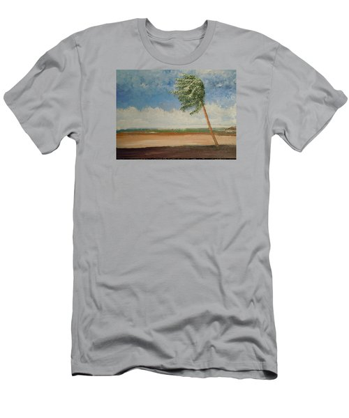Alone In Paradise  Men's T-Shirt (Slim Fit) by Dan Whittemore