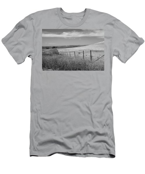 Men's T-Shirt (Slim Fit) featuring the photograph Along The Line by Kathleen Grace