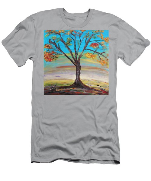 An Autumn Locust Tree Men's T-Shirt (Athletic Fit)