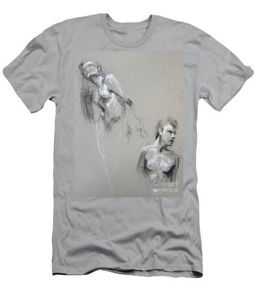 Men's T-Shirt (Athletic Fit) featuring the drawing Andro Double by Gabrielle Wilson-Sealy