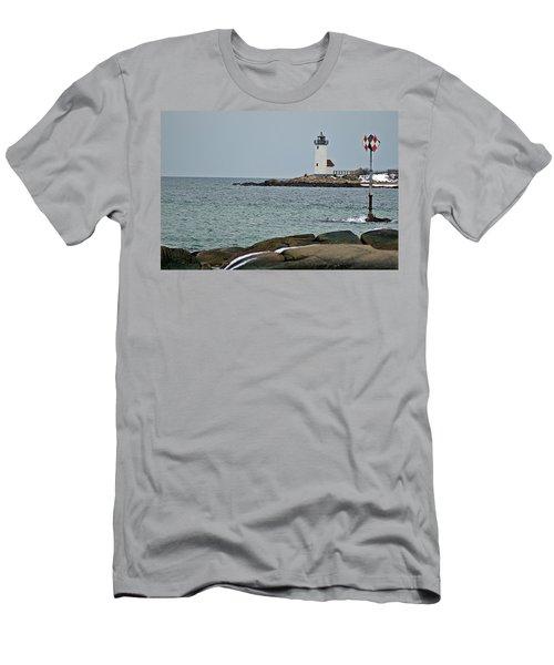 Annisquam Lighthouse Men's T-Shirt (Athletic Fit)
