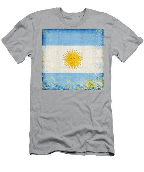 Argentina Flag Men's T-Shirt (Athletic Fit)