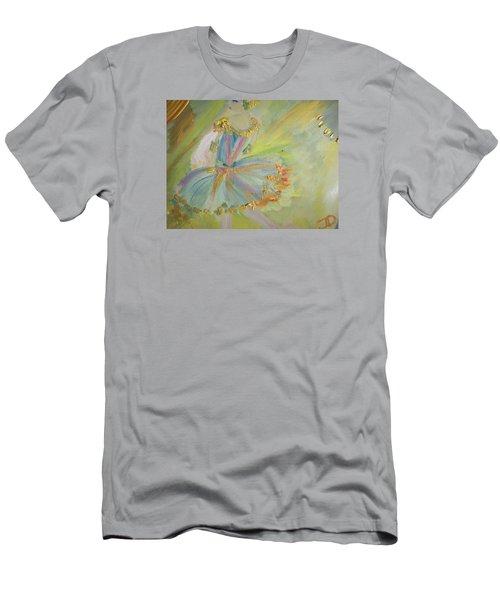 Men's T-Shirt (Slim Fit) featuring the painting Art Deco Ballet by Judith Desrosiers