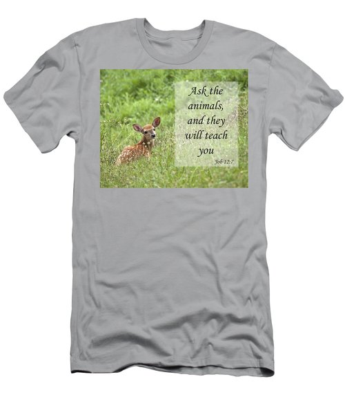 Ask The Animals Men's T-Shirt (Slim Fit) by Jeannette Hunt
