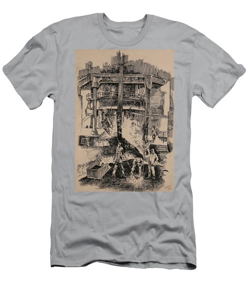 At The Blast Furnace Men's T-Shirt (Athletic Fit)