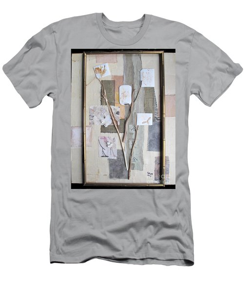 Men's T-Shirt (Slim Fit) featuring the mixed media Autumn by Sandy McIntire