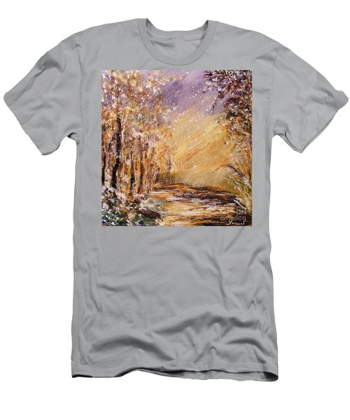 Autumn Snow Men's T-Shirt (Slim Fit) by Karen  Ferrand Carroll
