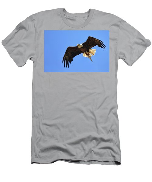 Bald Eagle Catch Men's T-Shirt (Athletic Fit)