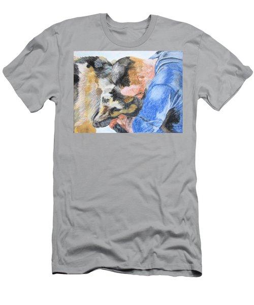 Best Friends - Oil Pastels Study Men's T-Shirt (Slim Fit) by Maris Sherwood