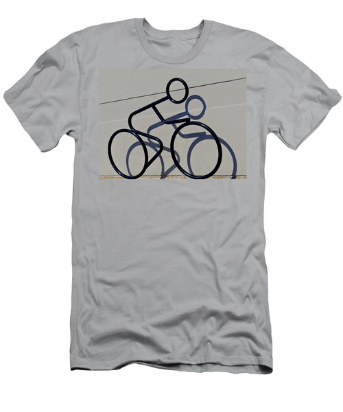 Bicycle Shadow Men's T-Shirt (Slim Fit) by Julia Wilcox