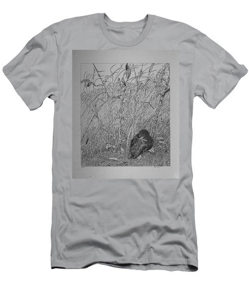 Bird In Winter Men's T-Shirt (Athletic Fit)