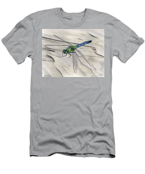 Blue-green Dragonfly Men's T-Shirt (Athletic Fit)