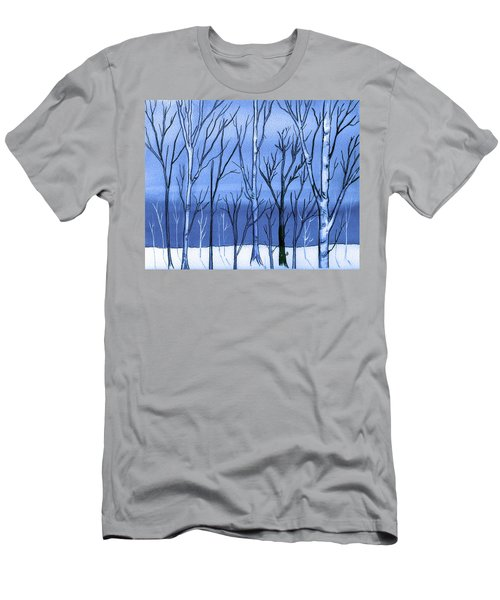 Blue Interlude Men's T-Shirt (Athletic Fit)
