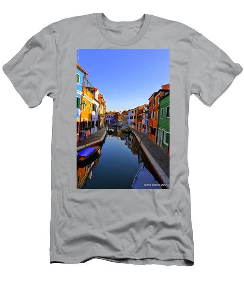 Canal Side Street Men's T-Shirt (Athletic Fit)
