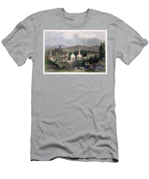 Catskill Village, 1839 Men's T-Shirt (Athletic Fit)