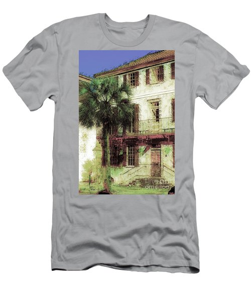 Men's T-Shirt (Athletic Fit) featuring the photograph Charleston Homes by Donna Bentley