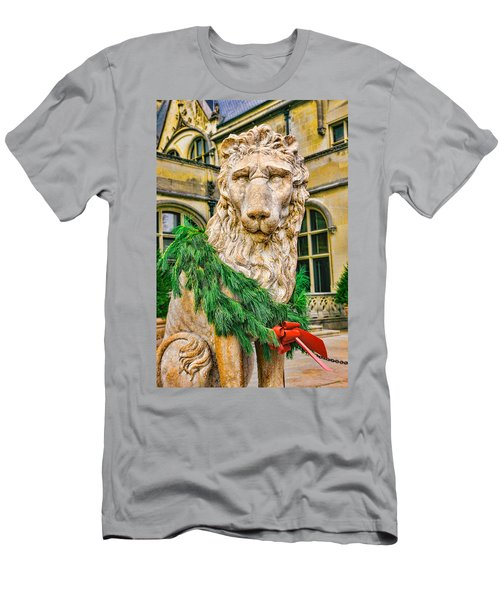Christmas Lion At Biltmore Men's T-Shirt (Athletic Fit)