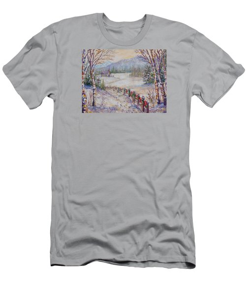 Christmas Men's T-Shirt (Slim Fit) by Lou Ann Bagnall