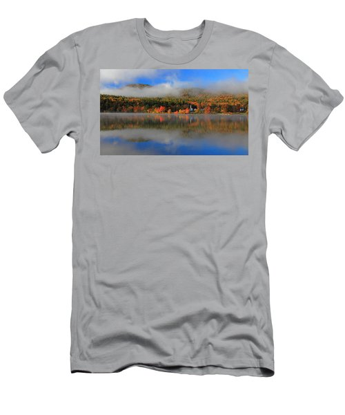 Church Across The Lake-panoramic Men's T-Shirt (Athletic Fit)