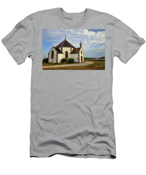 Men's T-Shirt (Slim Fit) featuring the photograph Church Off The Brittany Coast by Dave Mills