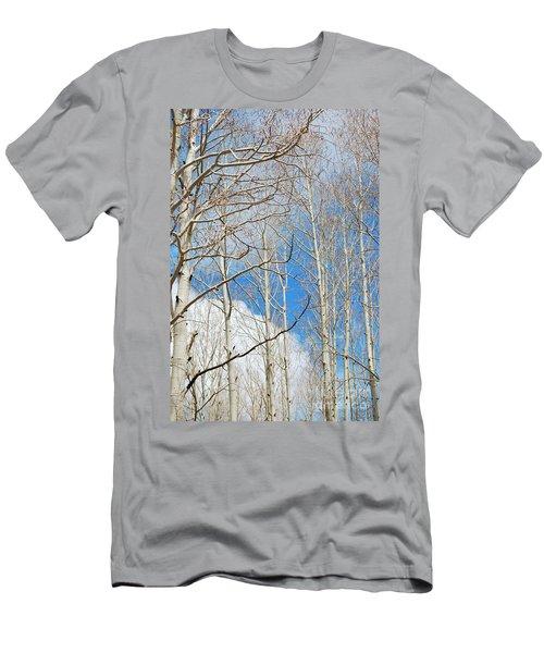 Cloudy Aspen Sky Men's T-Shirt (Athletic Fit)