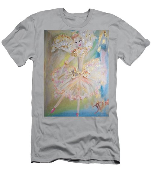 Men's T-Shirt (Slim Fit) featuring the painting Coffee Fairy by Judith Desrosiers