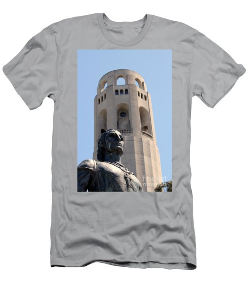 Coit Tower Statue Columbus Men's T-Shirt (Athletic Fit)